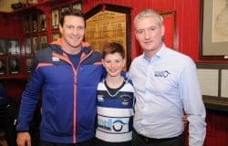 David Wallace, Pierce O'Neill, Old Crescent U12 team, Austin O'Neill, O'Neill Industrial, main sponsors of the team kit.