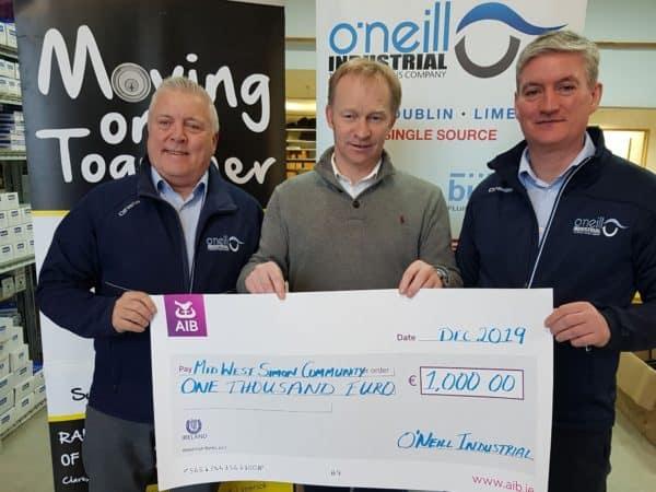 O'Neill Industrial Mid West Simon Community donation